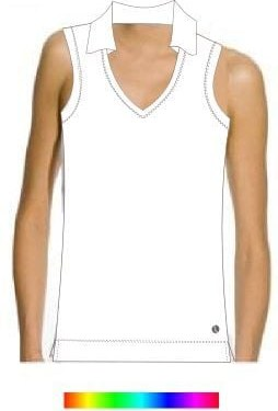collar-sleeveless-top-plain
